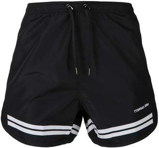 Neil Barrett stripe detail swim shorts