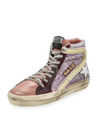 Golden Goose Glitter High-Top Star Sneakers