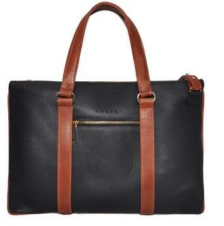 Eddie - Saville Briefcase Black & Honey Brown