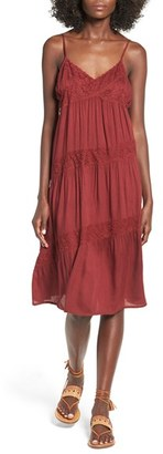 Volcom 'All Good' Lace Trim Slipdress $55 thestylecure.com