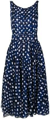 Samantha Sung checked printed flared dress