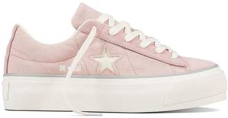Converse One Star Platform Canvas Glitter - Pink