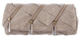 Christian Louboutin  Christian Louboutin Saba Watersnake Pillow Clutch