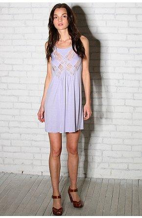 Lux Knit Lace Inset Slip Dress