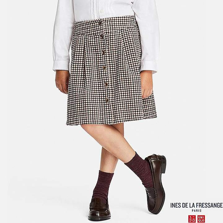 UNIQLO Girl's Corduroy Printed Skirt (ines De La Fressange)