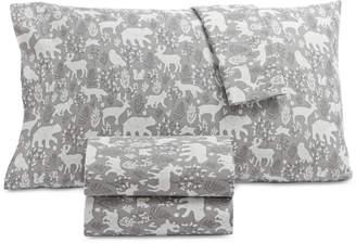 Martha Stewart Collection Printed Cotton Flannel 4-Pc. Queen Sheet Set