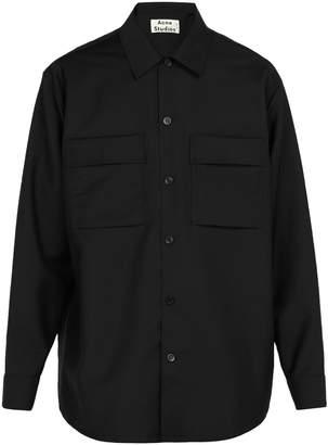 Acne Studios Houston mohair and wool-blend shirt