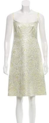 Martin Grant Brocade Midi Dress