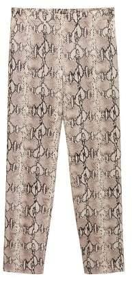 MANGO Snake print trousers
