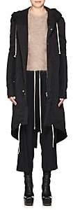 Rick Owens Women's Cotton-Blend Insulated Hooded Parka-Black