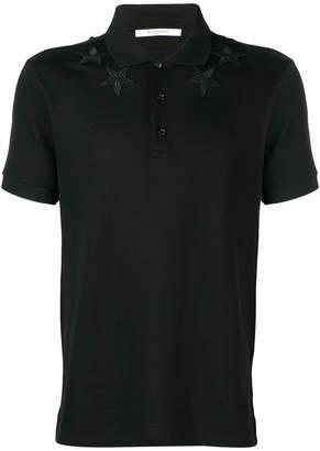 Givenchy star appliqué polo shirt