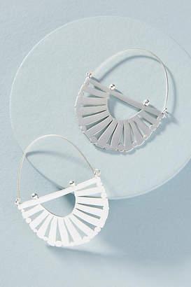 Anthropologie Rising Sun Hoop Earrings