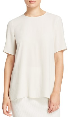 Eileen Fisher Crewneck Silk Blouse $248 thestylecure.com
