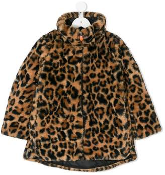 Save The Duck Kids reversible leopard zipped jacket