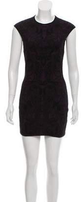 Alexander McQueen Wool Blend Mini Dress