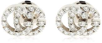 Gucci 18kt White Gold & Diamond Gg Earrings