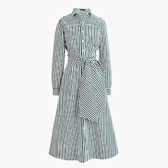 J.Crew Tie-waist shirtdress in stripe