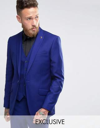 Farah Slim Fit Bright Millbank Twill Suit Jacket