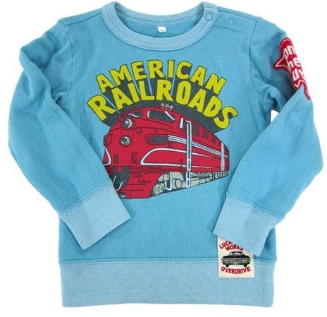 Bit'z Bit'z Kids - Boy's Railroad Train Sweater - Blue