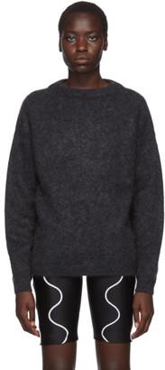 Acne Studios Grey Dramatic Mohair Crewneck Sweater