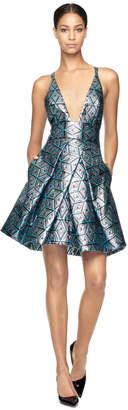 Milly EXCLUSIVE DIAMOND JACQUARD ALLIE DRESS