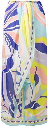 Emilio Pucci Rivera Print Sarong Skirt