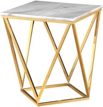 TOV Tov Leopold White Marble Side Table