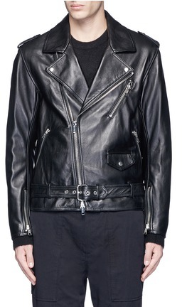 3.1 Phillip Lim3.1 Phillip Lim Belted lambskin leather biker jacket