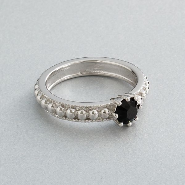 Simply vera vera wang sterling silver black crystal ring