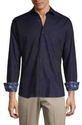Bertigo Long-Sleeve Printed Button-Down Shirt