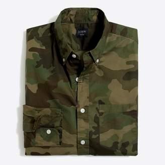 J.Crew Slim-fit flex washed shirt in camo print