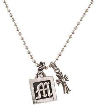 Chrome Hearts Cross & Initial M Pendant Necklace