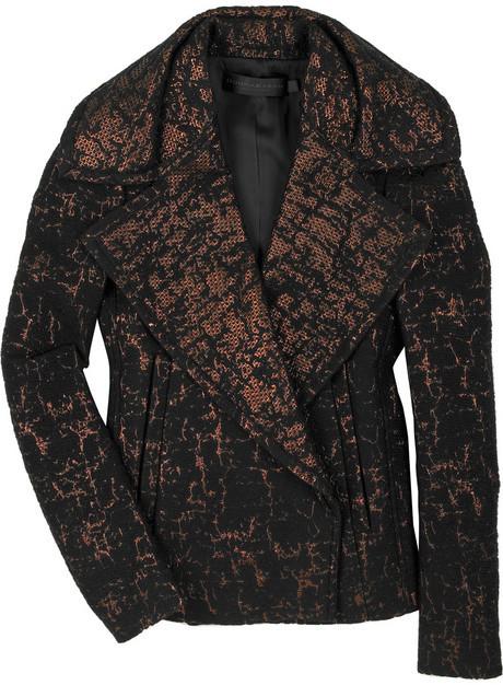 Donna Karan Jacquard lamé jacket