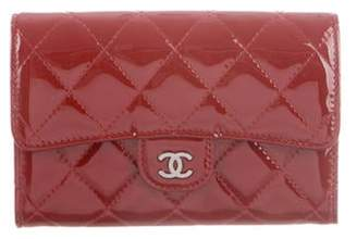 Chanel Patent Small Quilted Wallet Patent Small Quilted Wallet