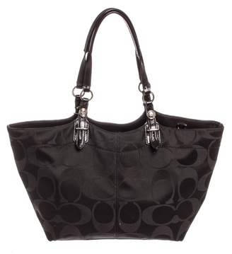 Coach Black Cloth Handbag