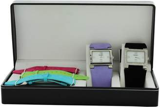 Elgin Women's Two Watches Set and Matching Color Genuine Sued Lether Strap Set EG275ST-L61
