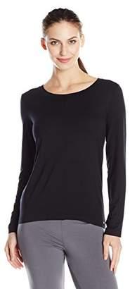 Hanro Women's's Yoga Sports Shirt, Schwarz (Black 0019), 48 (Herstellergröße: L)