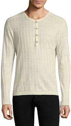 John Varvatos Long Sleeve Rib Henley