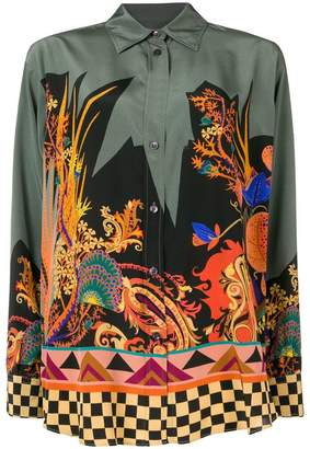 Etro embroidered long-sleeve top