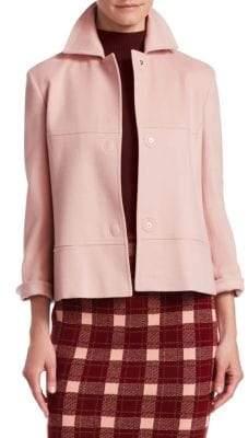 Akris Punto Cashgora Wool Cropped Jacket