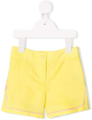 Stella McCartney pineapple embroidered shorts