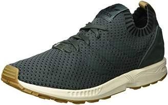 adidas Men's ZX Flux Primeknit Trainers, Grey Utility Ivy/Gum, 40 EU