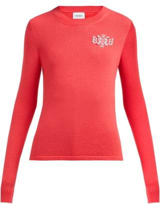 Barrie Thistle League Boucle Intarsia Cashmere Sweater - Womens - Pink Multi