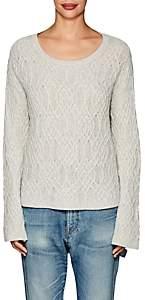 Nili Lotan Women's Quay Mixed-Knit Cashmere Sweater - Lt Grey Melange
