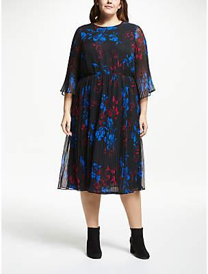 Ewa Midi Floral Print Dress, Multi