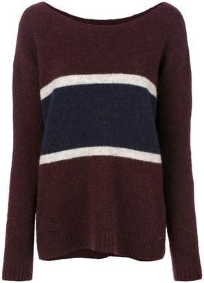 Woolrich panel stripe sweater