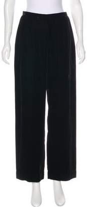 Giorgio Armani High-Rise Velvet Pants