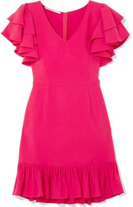 Stella McCartney Ruffled Crepe Mini Dress - Fuchsia
