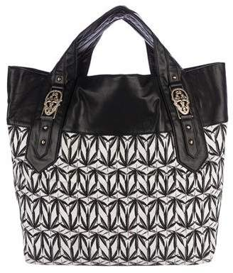 Thomas Wylde Leather-Trimmed Canvas Tote