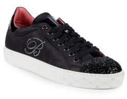Blumarine Glitter Toe Sneakers